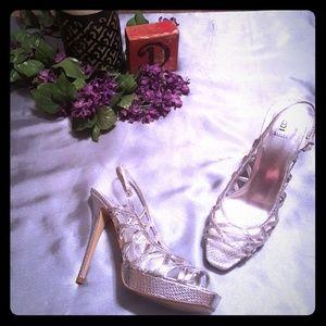 Vintage Silver Bakers Heels!